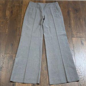 CAbi gray crosshatch wide leg trousers